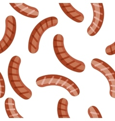 Bavarian Sausages Isolated Smoked Sandwhich Meat vector