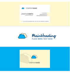 beautiful clouds logo and business card vertical vector image