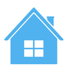 blue house icon vector image
