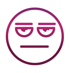 Bored funny smiley emoticon face expression vector
