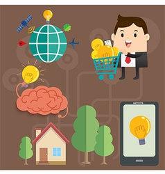 Businessman Idea Story vector image