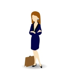 Cartoon image of a confident businesswoman vector