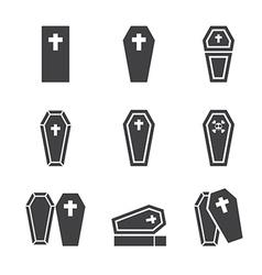 Casket icon vector