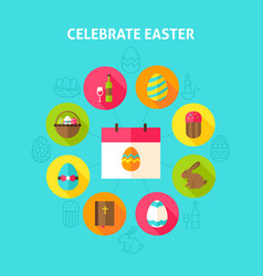 celebrate easter concept vector image