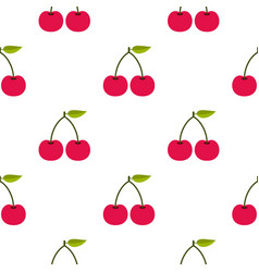 Cherry pattern seamless vector