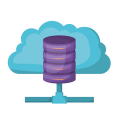 Cloud and network server storage icon and shading vector