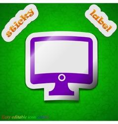 Computer widescreen monitor icon sign Symbol chic vector