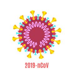 coronavirus virion structure diagram stock vector image