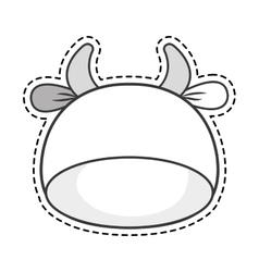 Cute cow kawaii character vector