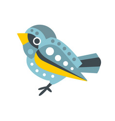 cute small sparrow bird colorful cartoon character vector image