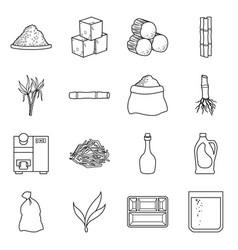 design industry and sugarcane symbol vector image
