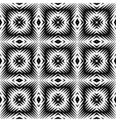Design seamless monochrome square pattern vector image