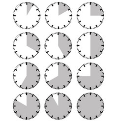 different timers vector image
