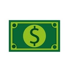 Dollar bill over white vector