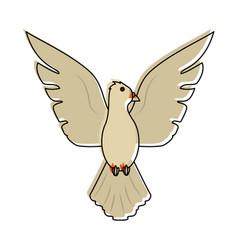 dove bird cartoon vector image vector image