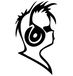 ear-phones graphic vector image