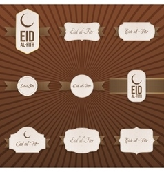 Eid al-Fitr decorative Banners and Labels Set vector
