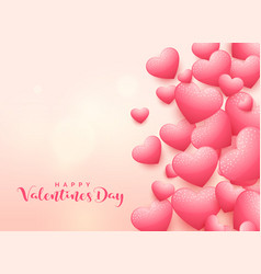 Elegant 3d heart background for valentines day vector