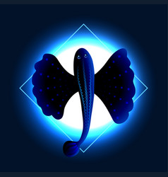 exotic flying fish vector image