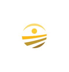 farm field icon logo element symbol vector image