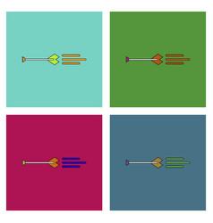 Flat icon design collection bow arrow vector