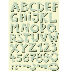 font set letters and numbers vector image
