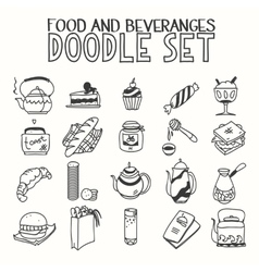 Food and beveranges morning breakfast lunch or vector