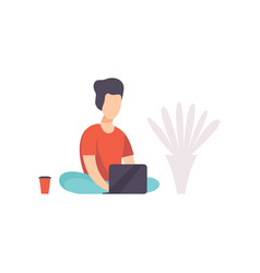 Freelancer working at home remote working vector