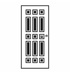 Front door icon in simple style vector image