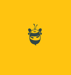 funny logo character bee icon honey vector image
