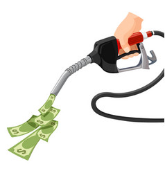Gas gasoline pump money concept cost for fuel vector