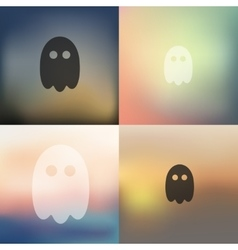 Ghost icon on blurred background vector