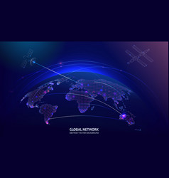 global networking communication concept vector image