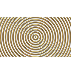 golden concentric circles background vector image