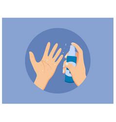 hand sanitizer in flat design vector image