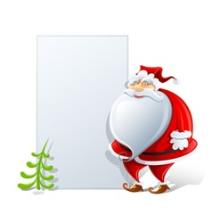 happy santa claus with paper vector image