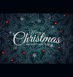 holiday new year and merry christmas background vector image