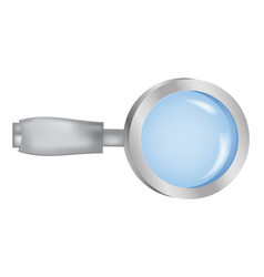 image of realistic magnifying glass magnifier vector image