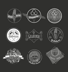italian food logos isolated on white background vector image