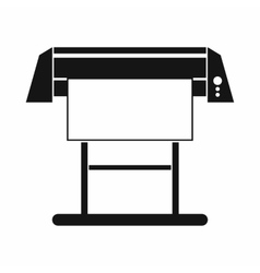 Large format inkjet printer icon simple style vector image
