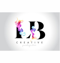 Lb vibrant creative leter logo design with vector