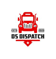 logistic truck transport logo vector image
