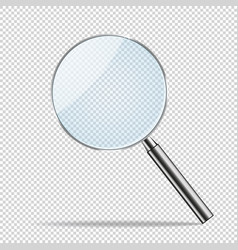 magnifier transparent realistic magnifying vector image