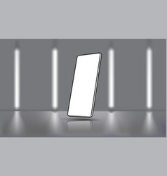 Mobile phone mockup for ui ux kit presentation vector