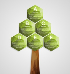 Modern design ecology business infographic vector image