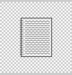 notebook icon isolated on transparent background vector image