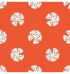 Orange pizza pattern vector
