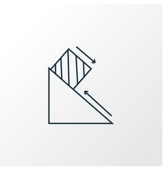 physics icon line symbol premium quality isolated vector image