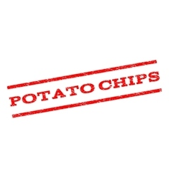 Potato Chips Watermark Stamp vector