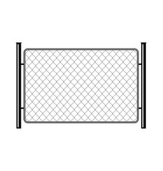 prison barrier secured property the chain link of vector image